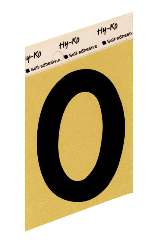 Hy-Ko  3-1/2 in. Aluminum  Black  0  Number  Self-Adhesive