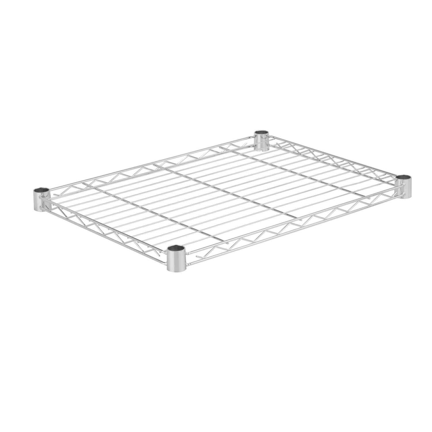 Honey Can Do  1 in. H x 18 in. W x 24 in. D Silver  Steel  Shelf Rack