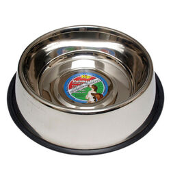 Hilo  Silver  Plain  Stainless Steel  96 oz. Pet Dish  For Dog