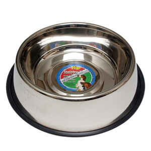 Hilo  Silver  Plain  Stainless Steel  3 oz. Pet Dish  For Dog