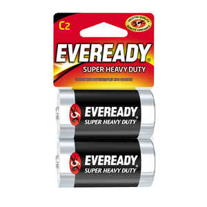Eveready  Super Heavy Duty  C  Zinc Carbon  Batteries  2 pk Carded