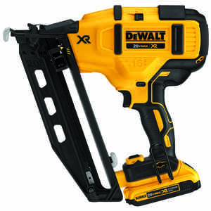DeWalt  XR  16 Ga. Cordless  20 deg. Angled Finish Nailer  Kit 20 volt