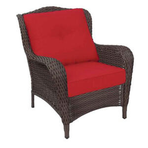 Living Accents  Cedarbrook  1  Brown  Steel  Deep Seating Set  Red