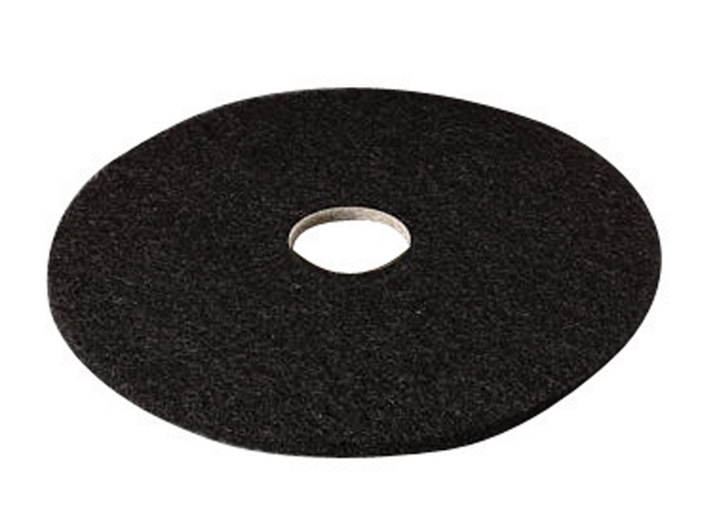 3M  Scotch-Brite  16 in. Dia. Floor Pad Disc Black  Black  Non-Woven Natural/Polyester Fiber