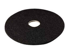 3M  Scotch-Brite  16 in. Dia. Non-Woven Natural/Polyester Fiber  Floor Pad Disc  Black