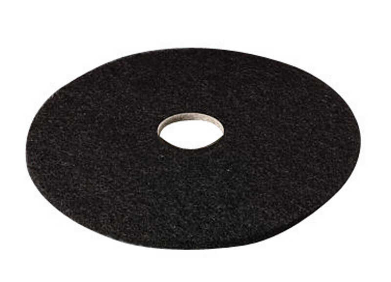 3M  Scotch-Brite  16 in. Dia. Non-Woven Natural/Polyester Fiber  Black  Floor Pad Disc