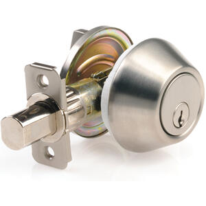 Ace  Mobile Home  Brushed Chrome  Stainless Steel  Single Cylinder Deadbolt