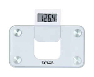 Taylor  350 lb. Digital  Mini Bath Scale  White
