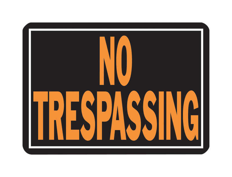 Hy-Ko  English  10 in. H x 14 in. W Sign  No Trespassing  Aluminum