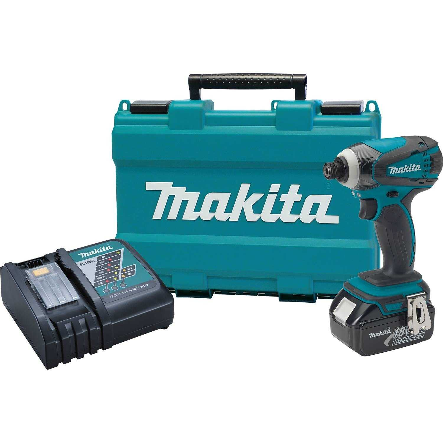 Makita  LXT  18 volt 1/4 in. Hex  Cordless  Impact Driver  Kit 1420 in-lb