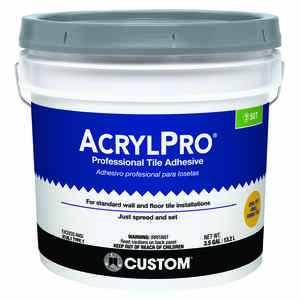Custom Building Products  AcrylPro  Ceramic Tile Adhesive  3.5 gal.