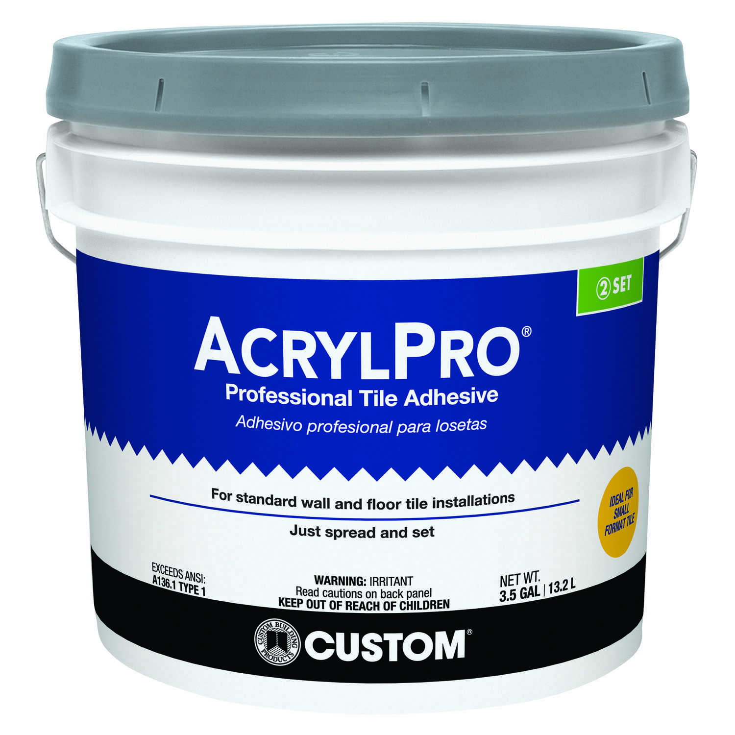 Custom Building Products Acrylpro Ceramic Tile Adhesive 3