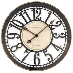 Westclox  12 in. L x 12 in. W Indoor  Classic  Analog  Wall Clock  Glass/Plastic  Multicolored