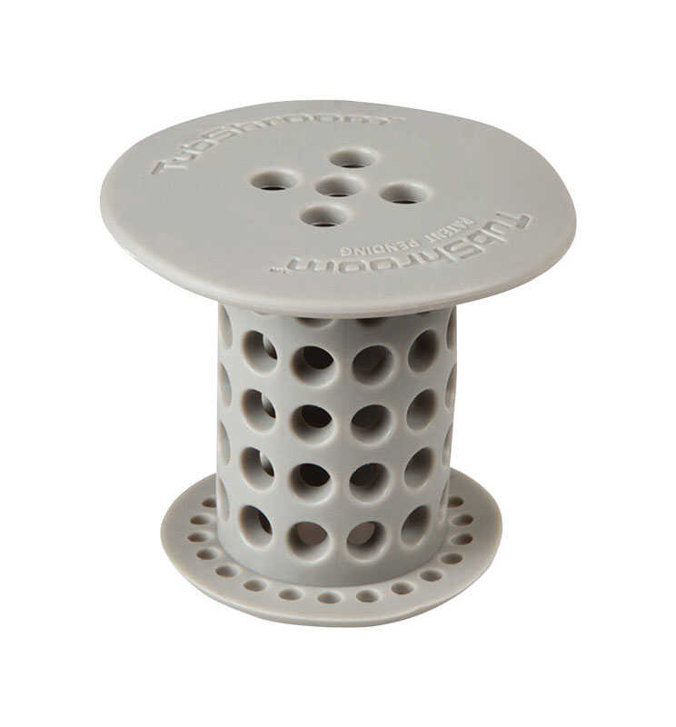 Tub Shroom  1-1/2 in. Gray  Silicone  Round  Drain Hair Catcher
