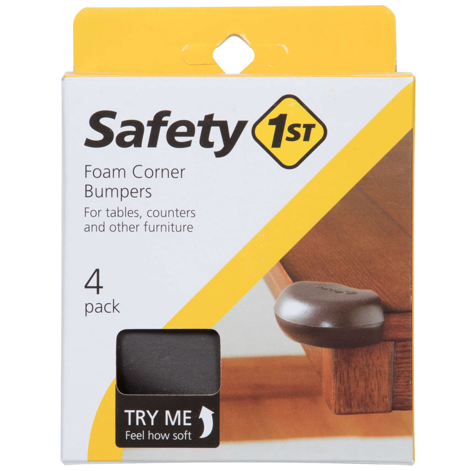 Safety 1st Brown Foam Corner Bumpers 4 pk