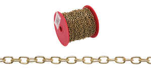 Campbell Chain  No. 19  Brass Plated  Gold  Brass  Hobby/Craft Chain  3/64 in. Dia. 0.2 in.