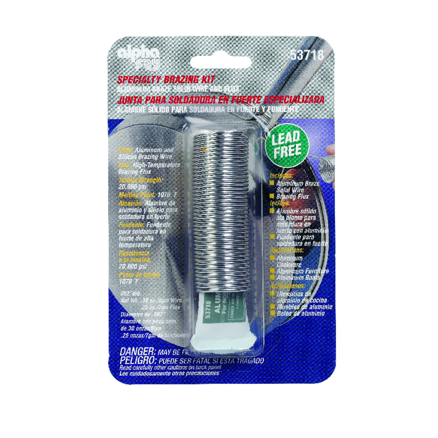 Alpha Fry  0.3 oz. Lead-Free Specialty Brazing Kit  0.062 in. Dia. Aluminum and Silicon Brazing  Alu