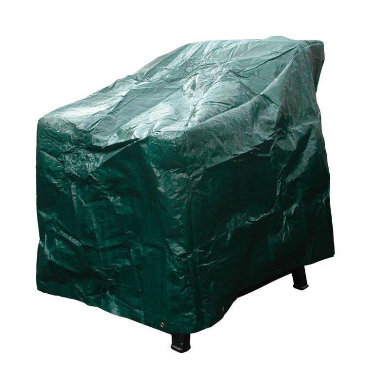 Budge  30 in. H x 36 in. W x 20 in. L Green  Polyethylene  High Back Chair Cover