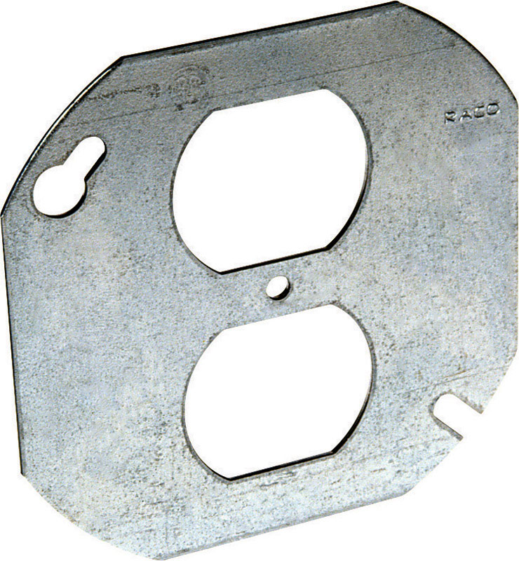 Raco  Octagon  Steel  Box Cover  For 1 Duplex Receptacle