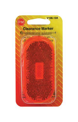 Peterson  Red  Oblong  Clearance/Side Marker  Light Replacement Lens