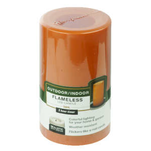 Paradise Garden  Orange  Candle  5 in. H x 3 in. Dia.