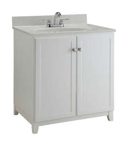 Design House  Single  Semi-Gloss  Base Cabinet  33 in. H x 30 in. W x 21 in. D