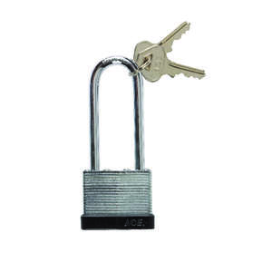 Ace  1.313 in. H x 1-9/16 in. W Double Locking  Steel  Padlock  1 pk Keyed Alike
