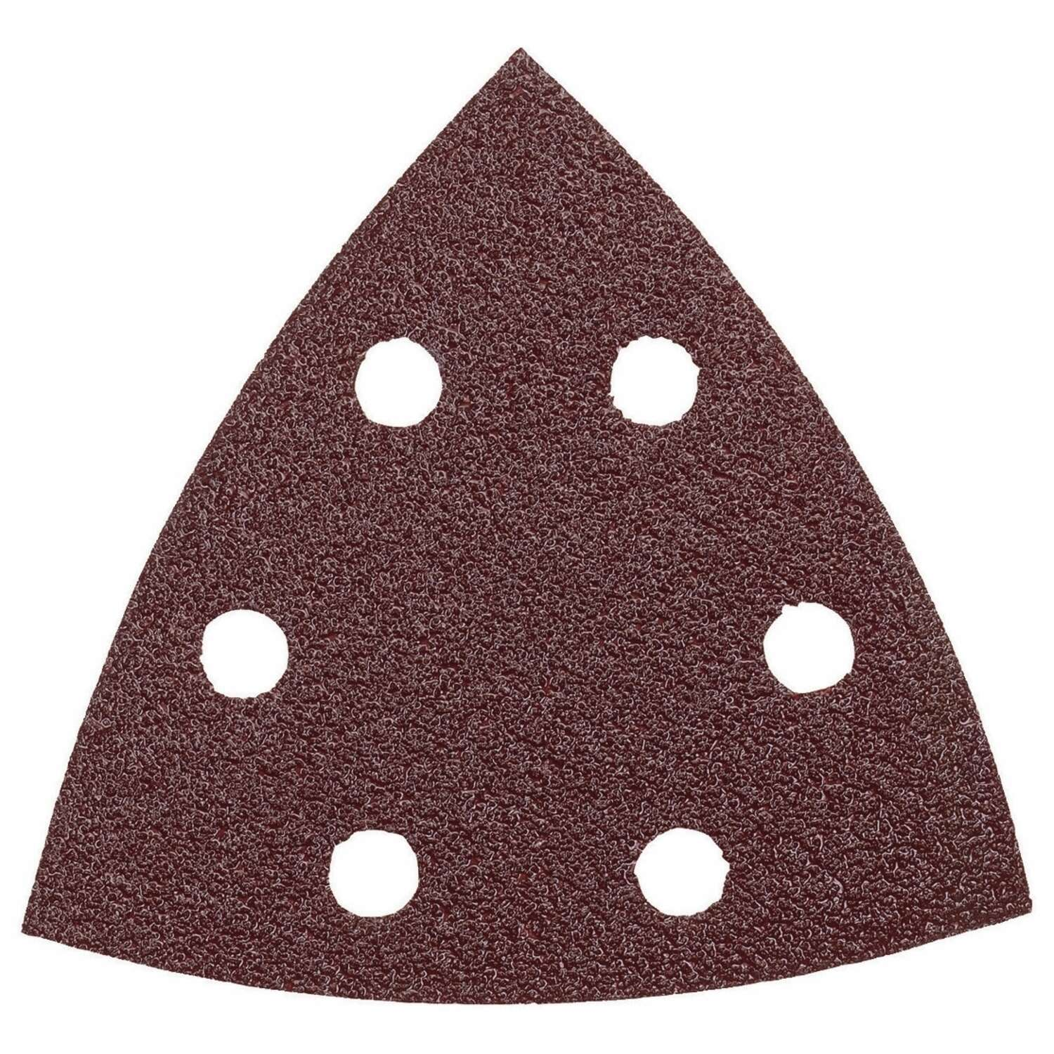 Bosch  3.75 in. Aluminum Oxide  Hook and Loop  Sanding Disc  80 Grit 5 pk