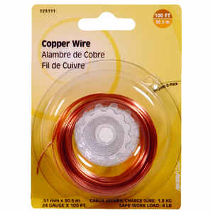 Hillman  100 ft. L Copper  24 Ga. Wire