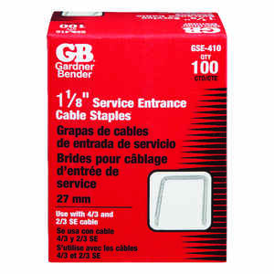 Gardner Bender  1-1/8 in. W Steel  Service Entrance Staple  100 pk