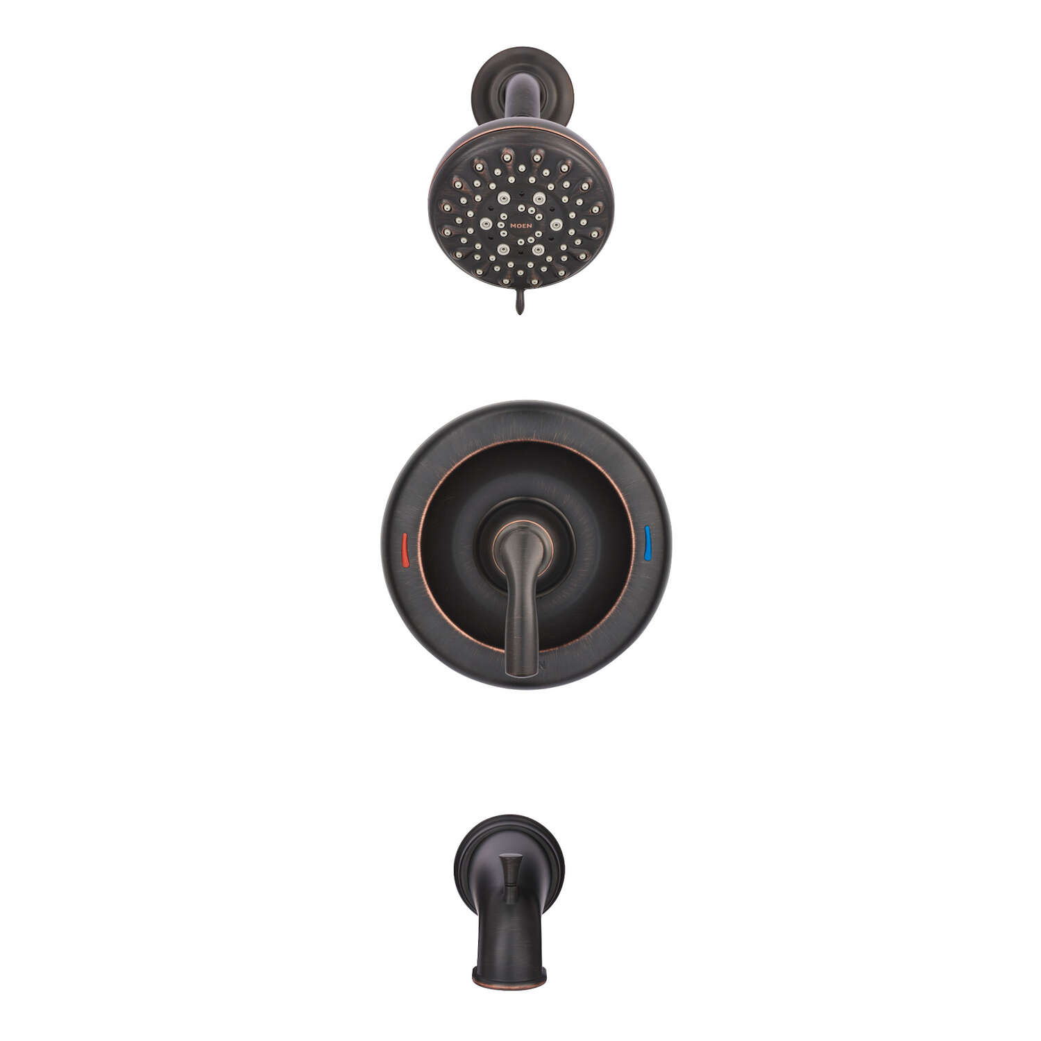 Moen  Hilliard  One Handle  Tub and Shower Faucet  Mediterranean Bronze  Metal