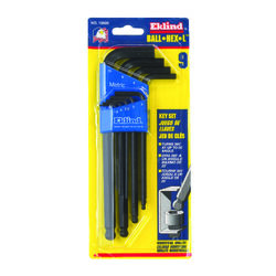 Eklind  Ball-Hex-L  Metric  Long Arm  Ball End Hex L-Key Set  9 pc.