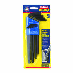 Eklind Tool  Ball-Hex-L  1.5-10mm  Metric  Long Arm  Ball End Hex L-Key Set  Multi-Size in. 6 pc.