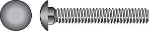 Hillman  1/2 in. Dia. x 6 in. L Hot Dipped Galvanized  Steel  Carriage Bolt  25 pk
