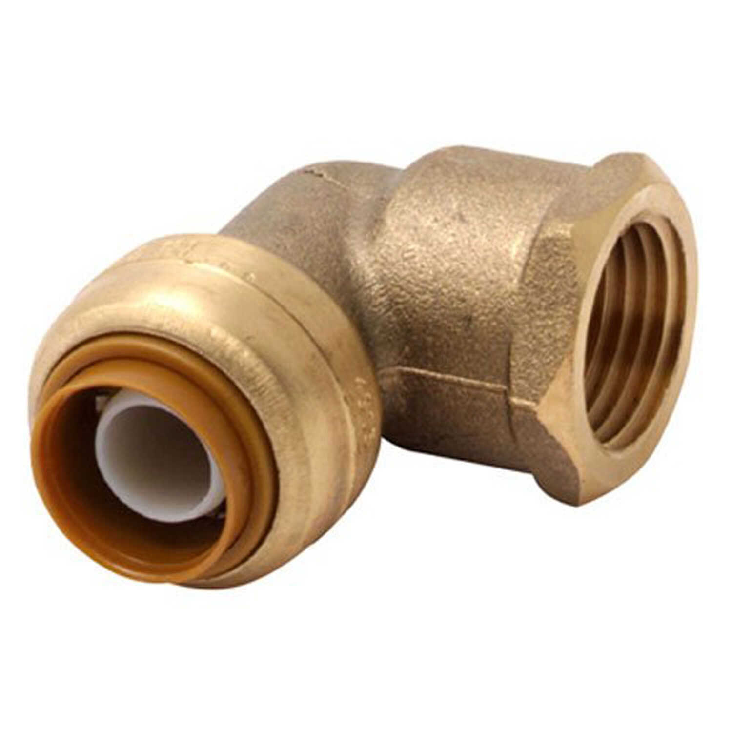 SharkBite  3/4 in. Push   x 3/4 in. Dia. FNPT  Brass  90 Degree Elbow