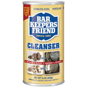 Bar Keepers Friend  No Scent Stainless Steel Cleaner & Polish  15  Powder