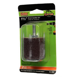 Gator  1.5 in. Dia. x 1.5 in. L Aluminum Oxide  Drum Sander Kit  50 Grit Coarse  1 pc.