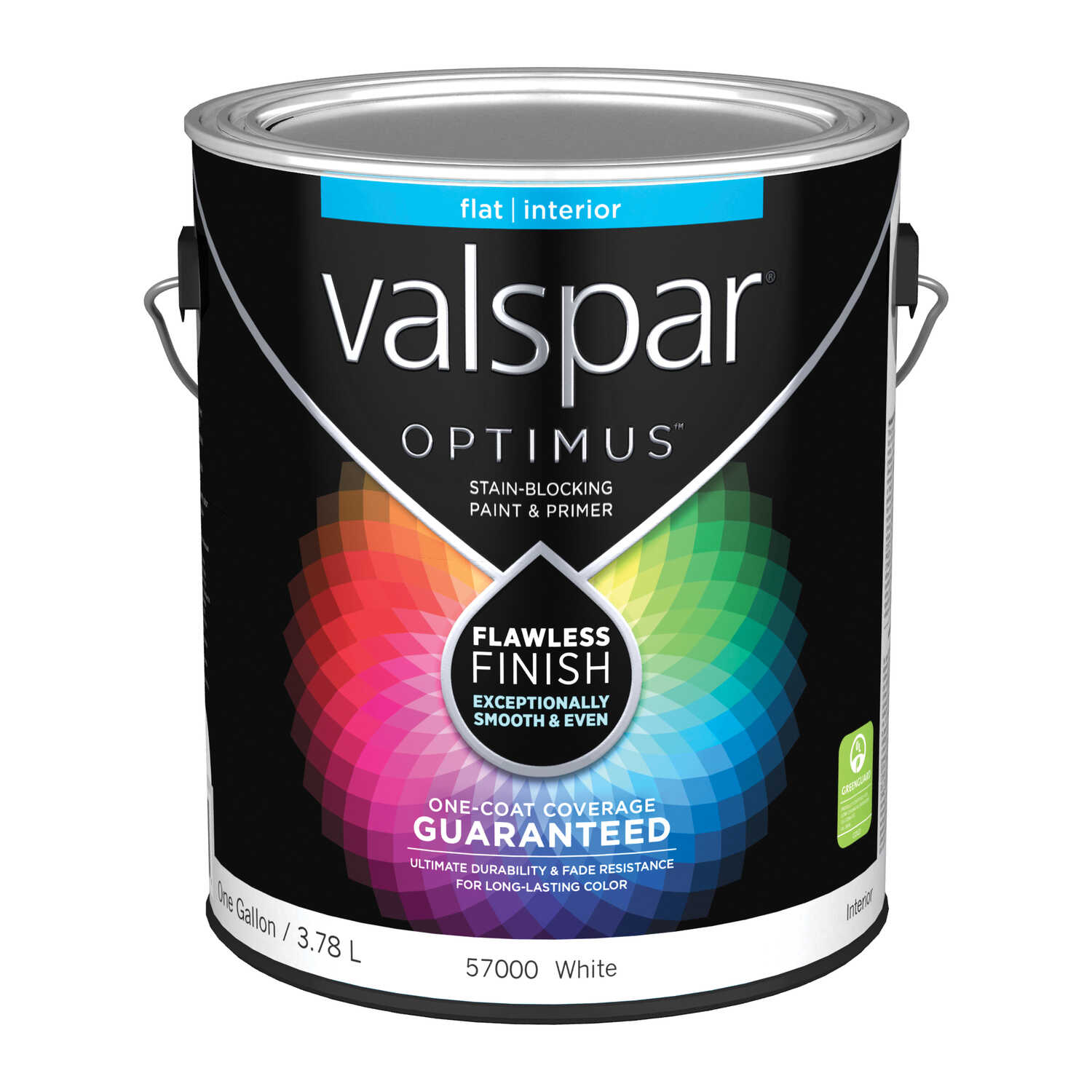 Valspar  Optimus  Flat  Basic White  1 gal. Paint and Primer  Acrylic Latex