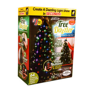 Tree Dazzler  As Seen On TV/Shark Tank  Christmas  LED Lights  Plastic  1 pk