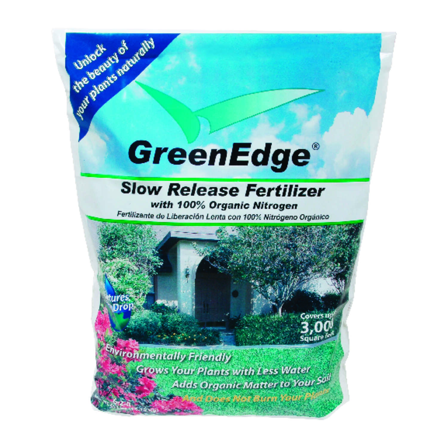 GreenEdge  Organic 6-2-0  Lawn and Garden Food  For All Grass Types 40 lb. 3000 sq. ft.