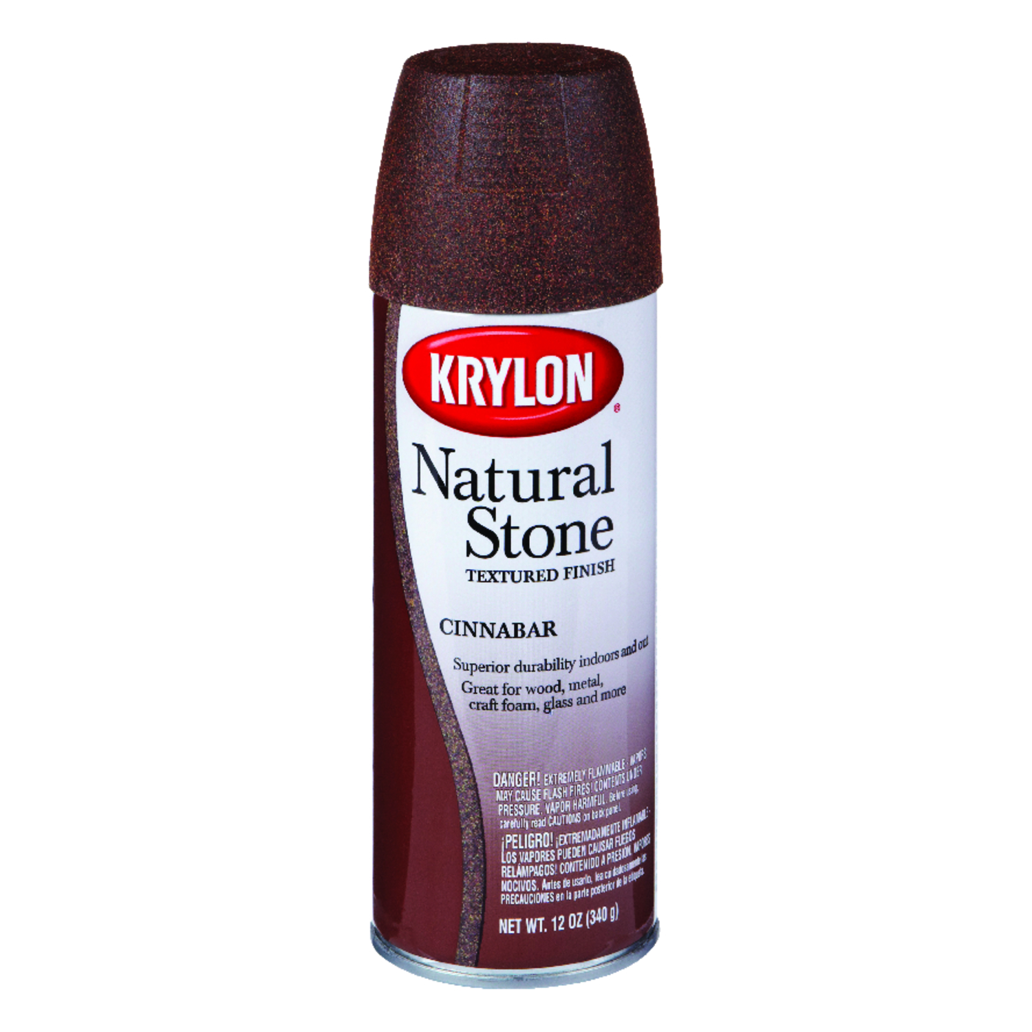 Krylon  Textured  Natural Stone Spray Paint  12 oz. Cinnabar