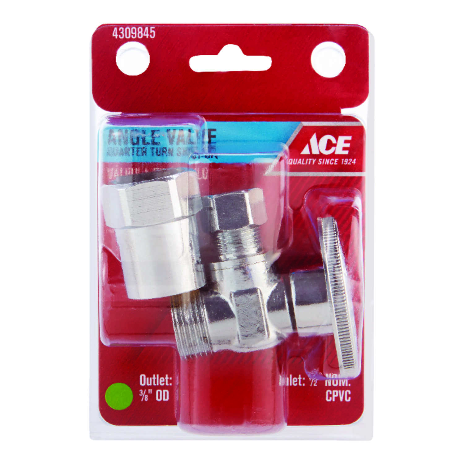 Ace  CPVC   Compression  Brass  Shut-Off Valve