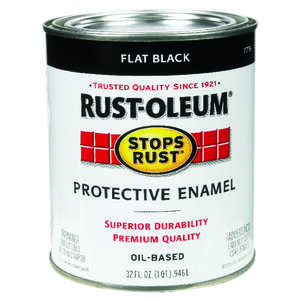 Rust-Oleum  Flat  Black  Indoor and Outdoor  1 qt. Protective Enamel