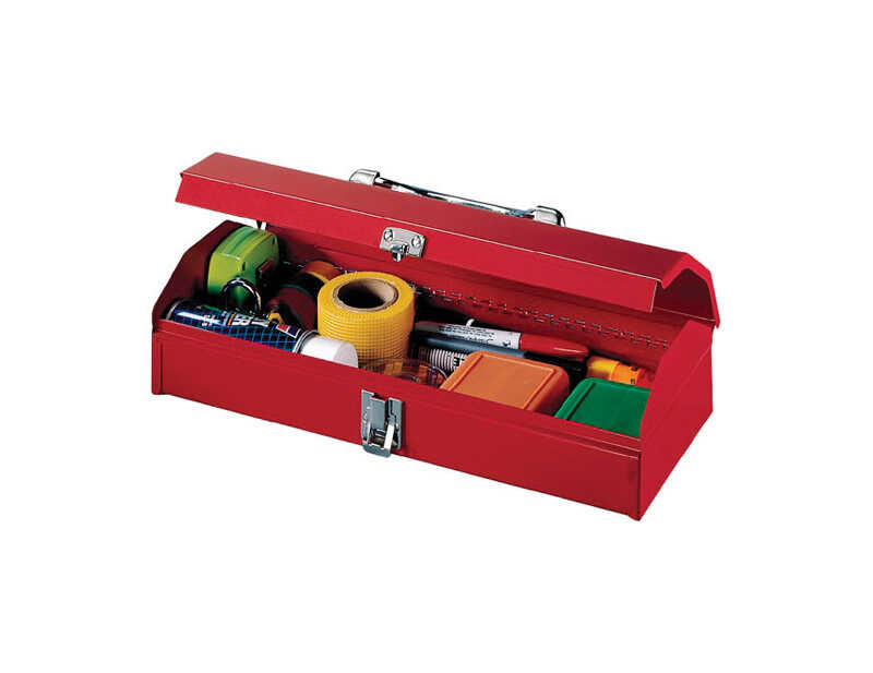 Stack-On  15 in. W x 3.5 in. H 6 in. Steel  Red  Tool Box