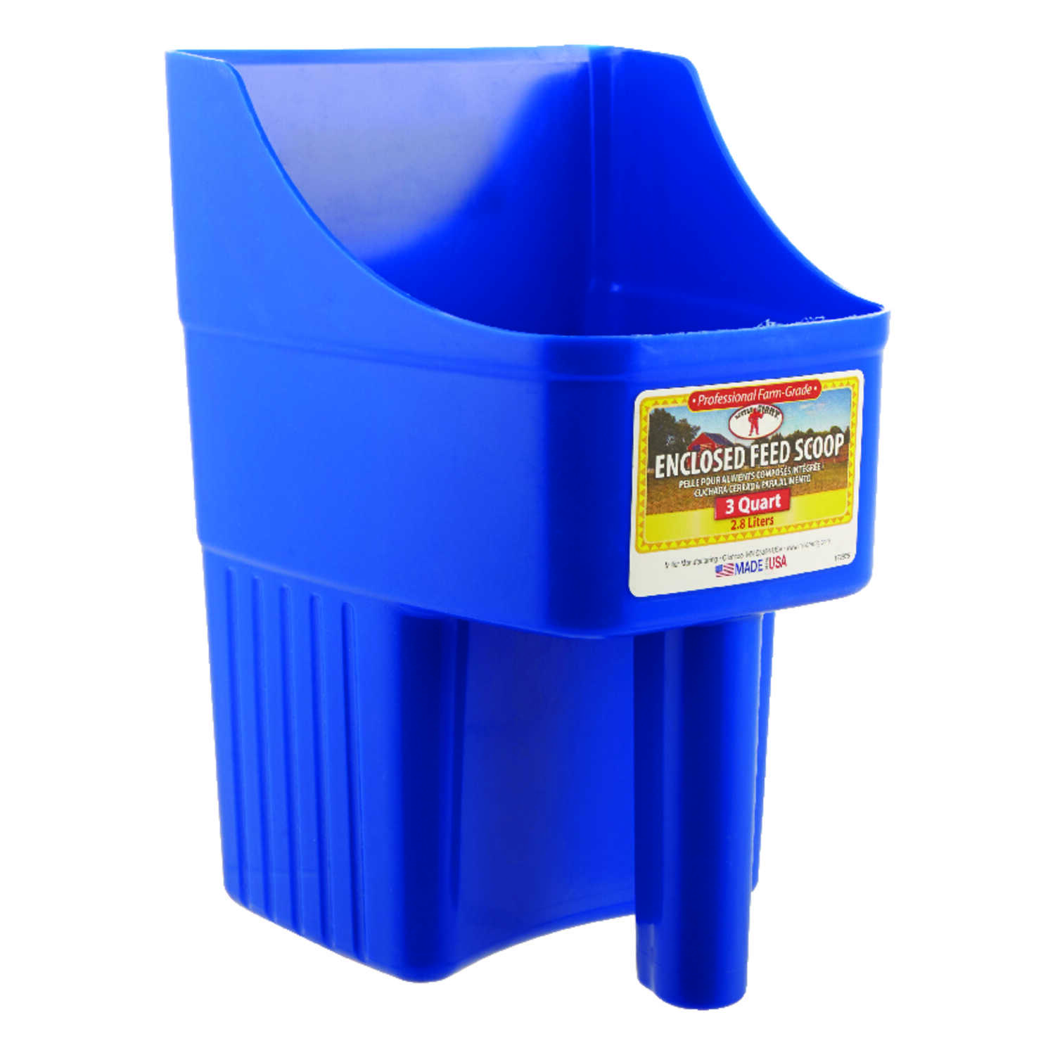 Little Giant  Plastic  Blue  3  Feed Scoop