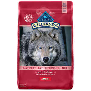 Blue Buffalo  Blue Wilderness  Salmon  Dry  Dog  Food  Grain Free 24 lb.