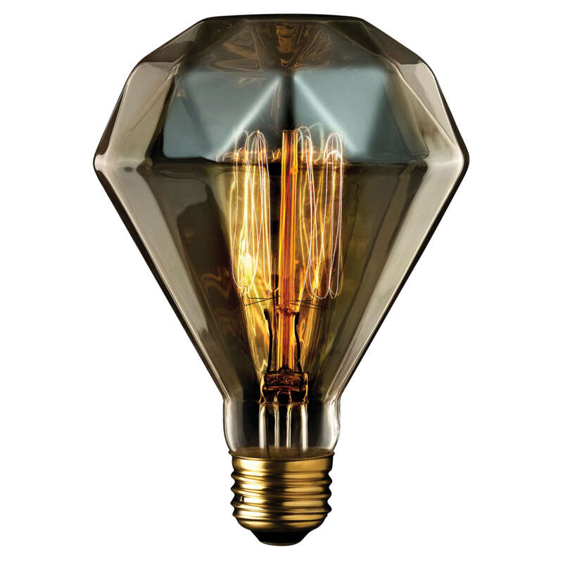 Globe Electric Diamante 40 watt BR30 Decorative Incandescent Bulb E26 (Medium) Amber 1 pk