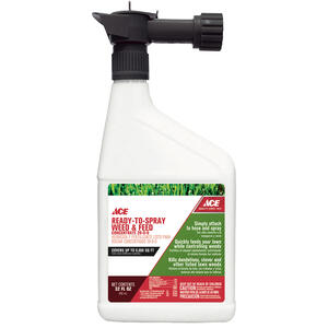 Ace  Weed and Feed  RTS Hose-End Concentrate  32 oz.