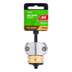 Ace  3/4 or 5/8 in. Zinc  Threaded  Female  Hose Mender Clamp