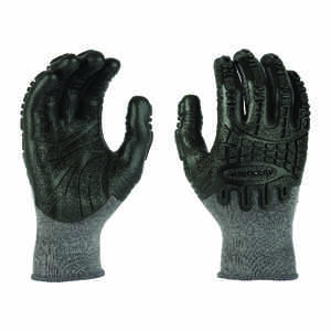 Madgrip  Thunderdome  Unisex  Rubber  Coated  Black  M  Work Gloves
